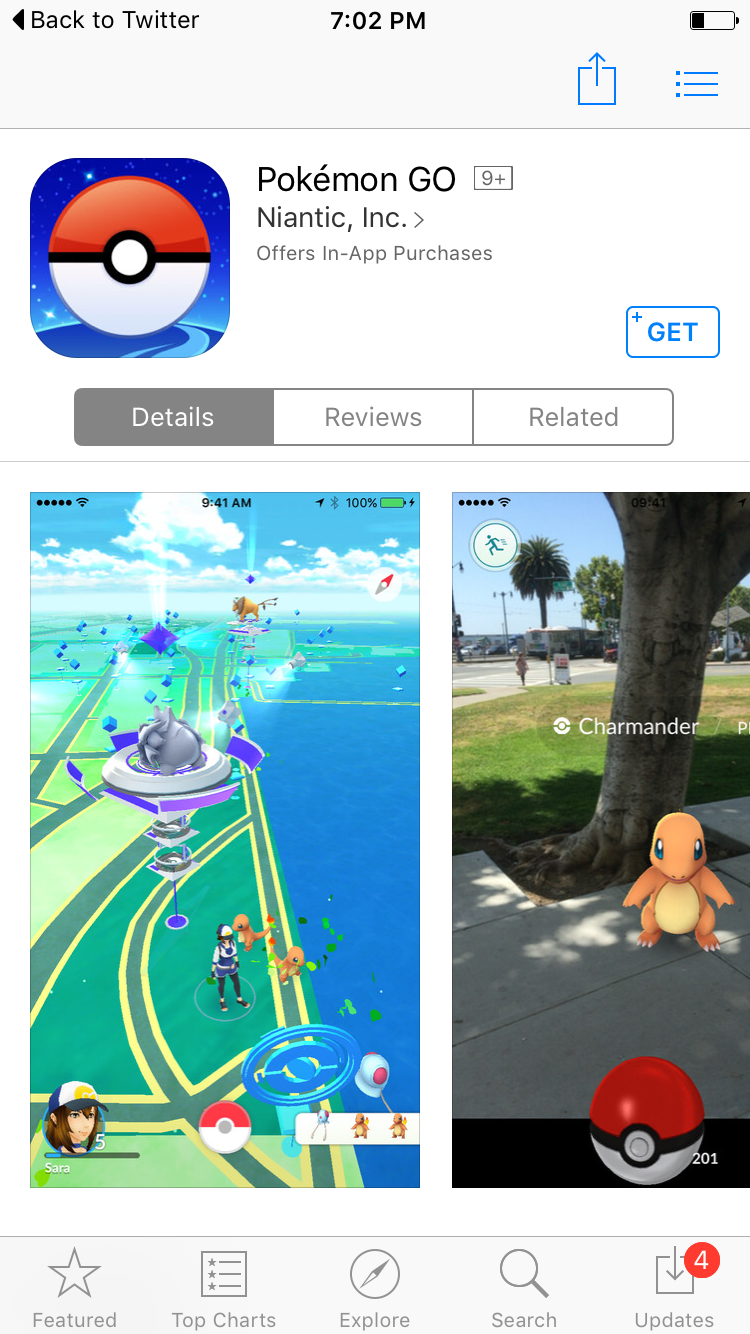 pokemon go now available for ios/android google play/app store for